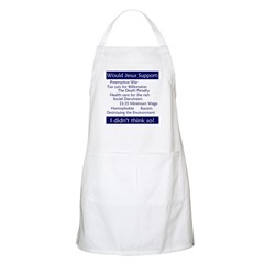 BBQ Apron - Would Jesus support...