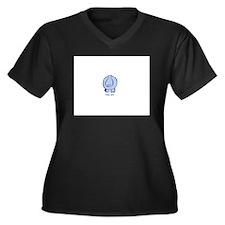 Roto Hippo Women's Plus Size V-Neck Dark T-Shirt