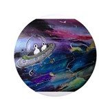 "Space Ship Peeps 3.5"" Button (100 pack)"