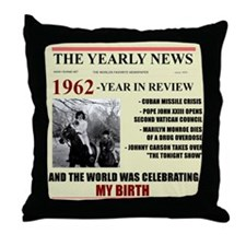 born in 1962 birthday gift Throw Pillow