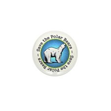 Save the Polar Bears Mini Button (10 pack)