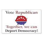Republic Pig Rectangle Sticker