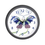 Japanese Butterfly Wall Clock