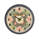 Chinese Blossom Wall Clock