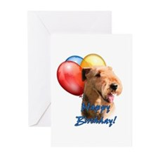 Airedale Balloon Greeting Cards (Pk of 10)