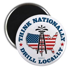 "Drill Locally 2.25"" Magnet (100 pack)"