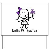 Greek Lizzy - Delta Phi Epsilon Yard Sign