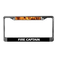 Fire Captain Flame License Plate Frame