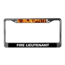 Fire Lieutenant Flame License Plate Frame