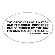 Quote - Greatness - Gandhi Oval Decal