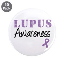 "Lupus Warrior 3.5"" Button (10 pack)"