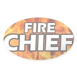 Fire Chief Oval Decal