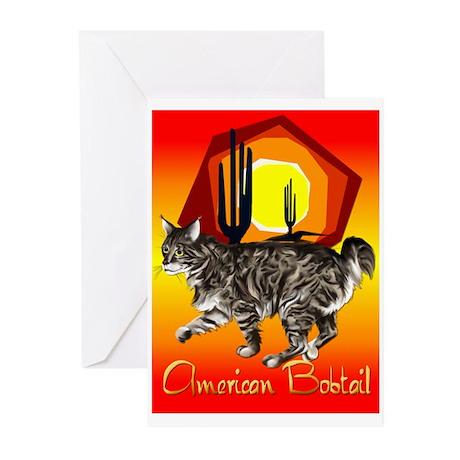 American Bobtail Greeting Cards (Pk of 20)