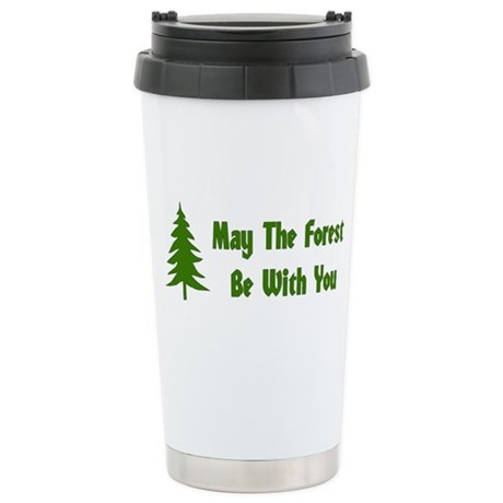 May The Forest Be With You Ceramic Travel Mug