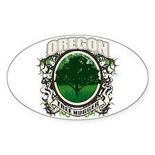Tree Hugger Oregon Oval Decal