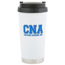 Aide Blue Ceramic Travel Mug