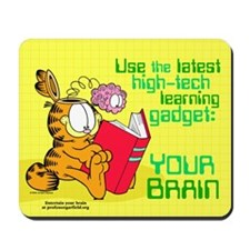 Use Your Brain Garfield Mousepad