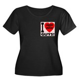 I Love Hard As A Rock Guys Women's Plus Size Scoop