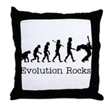 Evolution Rocks Throw Pillow