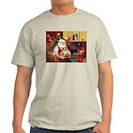Santa's Corgi (#3P) Light T-Shirt