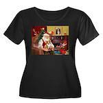 Santa's Corgi (#3P) Women's Plus Size Scoop Neck D