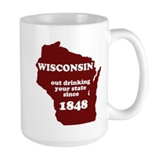 Wisconsin Outdrinking Your St Large Mug