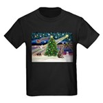 XmasMagic/Weimaraner 2 Kids Dark T-Shirt