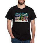 XmasMagic/2 Weimaraners Dark T-Shirt