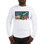 XmasMagic/2 Weimaraners Long Sleeve T-Shirt