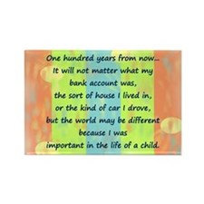 100 Years Rectangle Magnet (100 pack)