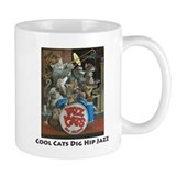 Cool Cats Dig Hip Jazz Small Mug