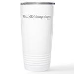 Real Men Change Diapers Ceramic Travel Mug