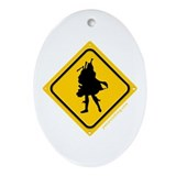 Bagpipe Player Crossing Oval Ornament