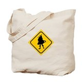 Bagpipe Player Crossing Tote Bag