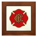 Chicago Fire Framed Tile