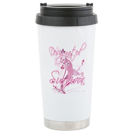 Pink Ribbon Survivor Ceramic Travel Mug
