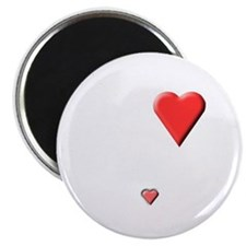 2 hearts, mother's and baby's Magnet