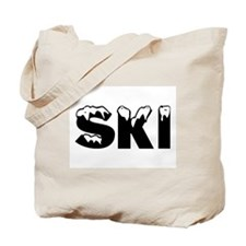 Ski (Black) Tote Bag