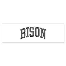 Bison (curve-grey) Bumper Sticker (50 pk)
