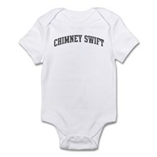 Chimney Swift (curve-grey) Infant Bodysuit