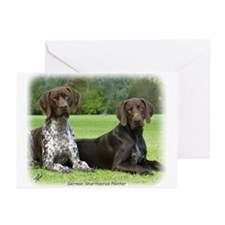 German Shorthaired Pointer 9J37D-09 Greeting Cards
