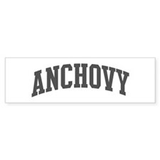 Anchovy (curve-grey) Bumper Bumper Sticker