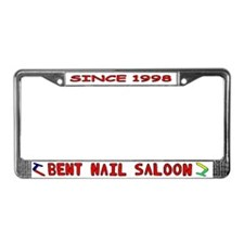 Bent Nail License Plate Frame