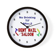 Bent Nail Wall Clock