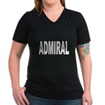 Admiral Women's V-Neck Dark T-Shirt