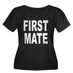 First Mate Women's Plus Size Scoop Neck Dark T-Shi
