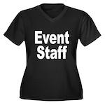 Event Staff Women's Plus Size V-Neck Dark T-Shirt