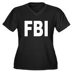 FBI Federal Bureau of Investi Women's Plus Size V-