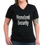 Homeland Security Women's V-Neck Dark T-Shirt
