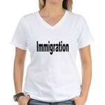 Immigration Women's V-Neck T-Shirt